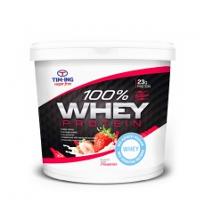 100% Whey protein jagoda 1000g - photo ambalaze