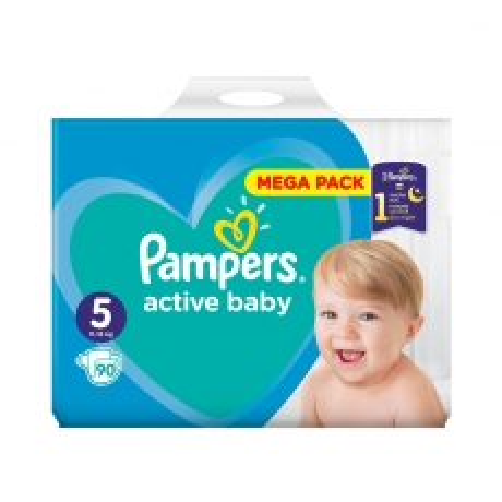 Pelene Active Baby Dry 5 11-16kg 90kom - photo ambalaze