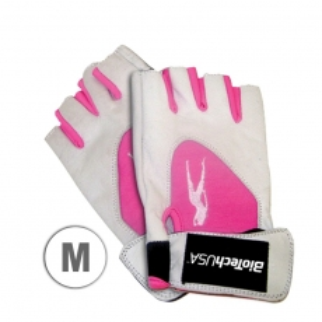 Pink Fit kožne rukavice belo/roze veličina M - photo ambalaze