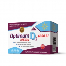 Optimum Mega D3 4000IU 30 kapsula - photo ambalaze