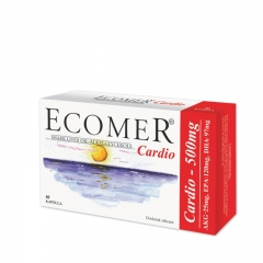 Ecomer Cardio 500mg 40 kapsula - photo ambalaze