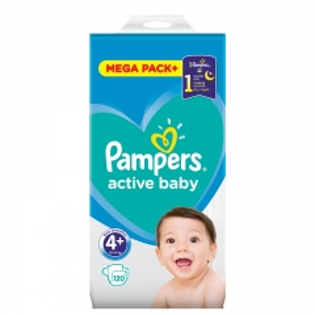 Pelene Active Baby Dry 4+ 10-15kg 120kom - photo ambalaze