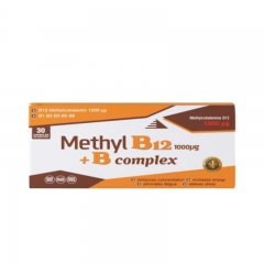Methyl B12 + B Complex 30 tableta - photo ambalaze