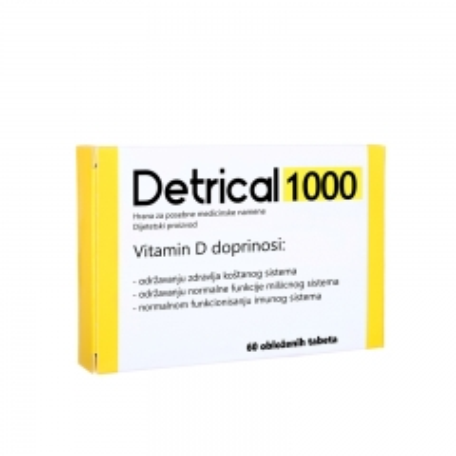 Detrical 1000IU 60 tableta - photo ambalaze