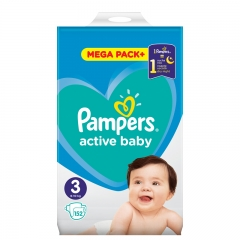 Pelene Active Baby Dry 3 6-10kg 152kom - photo ambalaze