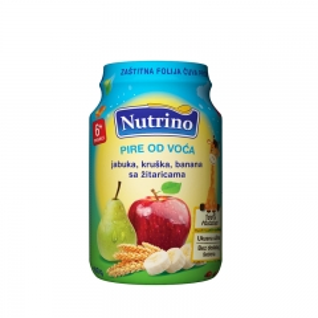 Pire od voća jabuka kruška banana sa žitaricama 190g - photo ambalaze