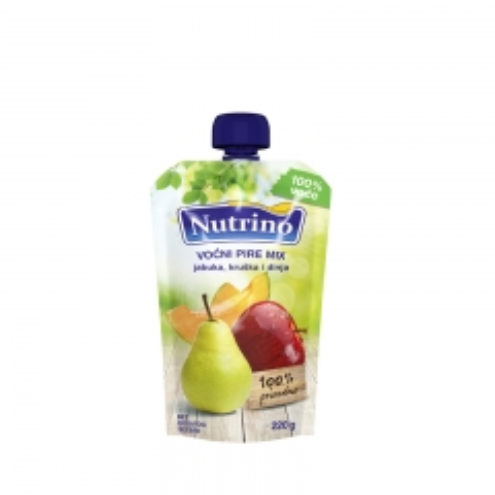 Voćni pire mix jabuka kruška i dinja 220g - photo ambalaze