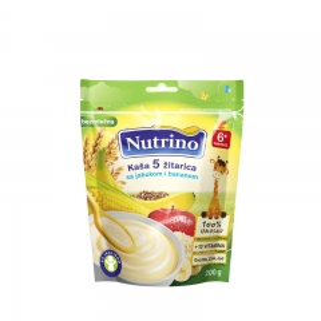 Kaša 5 žitarica sa jabukom i bananom 200g - photo ambalaze