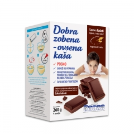 Zobena ovsena kaša čokolada 260g - photo ambalaze