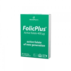 Folic Plus 400mcg 20 kapsula - photo ambalaze