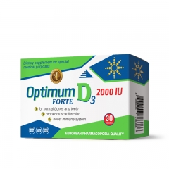 Optimum Forte D3 2000IU 30 kapsula - photo ambalaze