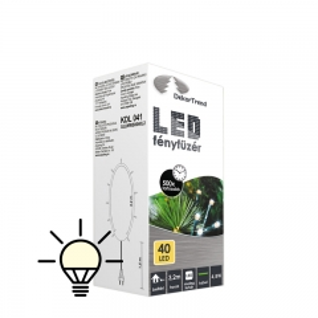 LED lampice za unutra 40 lampica toplo bela - photo ambalaze