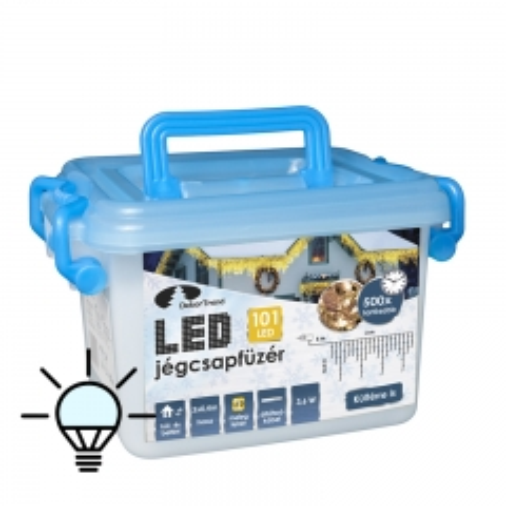 LED ledenice za spolja i unutra 101 lampica hladno bela - photo ambalaze