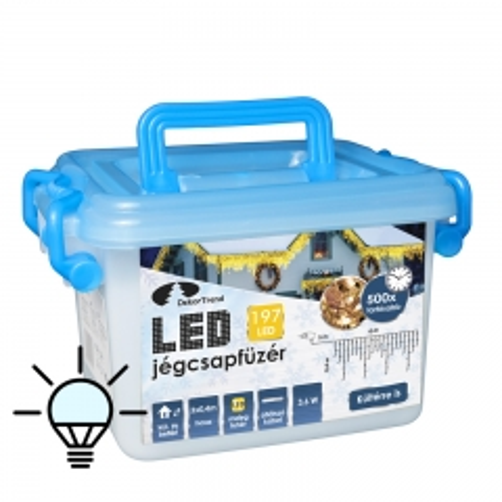 LED ledenice za spolja i unutra 197 lampica hladno bela - photo ambalaze