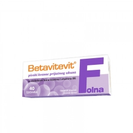 Betavitevit Folna 40 tableta - photo ambalaze