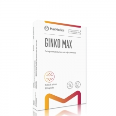 Ginko Max 30 kapsula - photo ambalaze