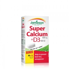 Super kalcijum + vitamin D 60+15 tableta - photo ambalaze