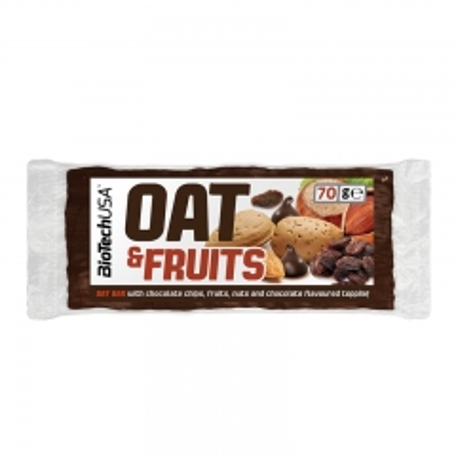 Oat&Fruits čokolada i suvo grožđe 70g - photo ambalaze