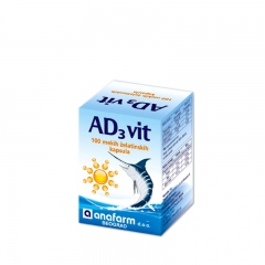 AD3 Vitamin 100 kapsula - photo ambalaze