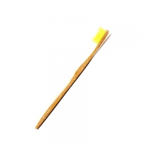 Četkica za zube od bambusovog drveta žuta - photo ambalaze