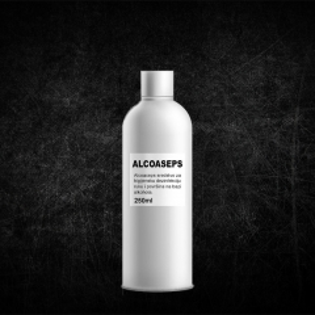 Alcoaseps 72% Etil Alkohol 250ml - photo ambalaze