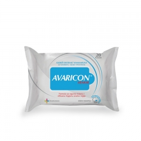 Avaricon Hemor vlažne maramice 20kom - photo ambalaze