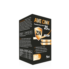 Ave Cink 25mg 40 tableta - photo ambalaze
