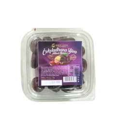 Čokoladirana suva šljiva-lešnik 200g - photo ambalaze