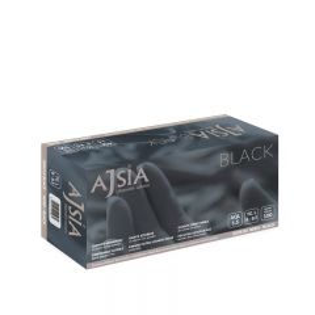 Black Nitril rukavice - photo ambalaze