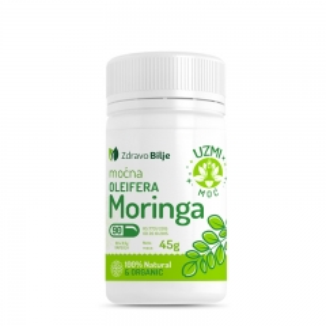 Moćna Moringa Oleifera 90 kapsula - photo ambalaze
