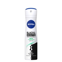 Dezodorans u spreju za žene Invisible Fresh Black&White 150ml - photo ambalaze