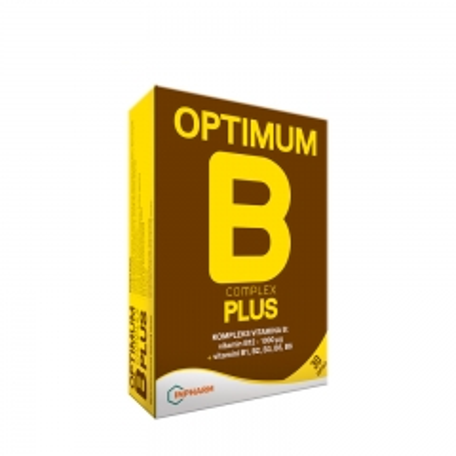 Optimum B komplex plus 30 kapsula - photo ambalaze