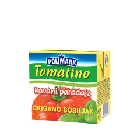 Tomatino kuvani paradajz sa origanom i bosiljkom 500ml - photo ambalaze